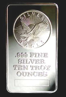 Sunshine Silver ten ounce silver bar - Sunshinesilver.com