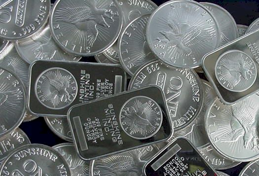 Sunshine Silver Bars & Silver Rounds